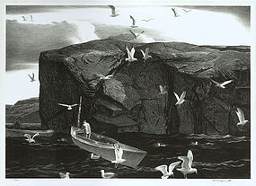 "Stow Wengenroth, lithograph, ""Deep Water"" 1941"