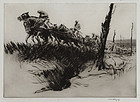 "Kerr Eby, etching, ""Rough Going"" 1919"