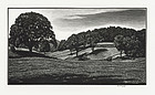 "Asa Cheffetz, wood engraving, ""Country Scene"", c. 1945"