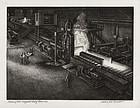"Jackson Lee Nesbitt, etching, ""Blooming Mill"" 1945"
