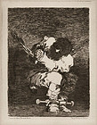 "Francisco Goya, etching, ""The Prisoner"" c. 1810"