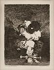 """Francisco Goya, etching, """"The Prisoner"""" c. 1810"""
