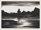 "Thomas W Nason, wood engraving, ""Deer Isle (Maine Coast)"" 1941"
