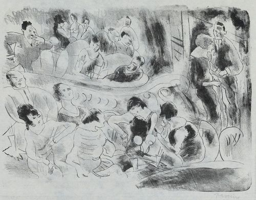 "Jules Pascin, etching, ""Le Music-Hall"" 1926"