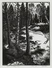 "Herbert Ogden Waters, wood engraving, ""Brook and Melting Snow"""