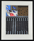 "Junichiro Sekino, print, ""Japanese Rooftop with Fishermens Flags"""