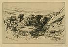 Sir Francis Seymour Haden, etching, Nine Barrow Down, 1877.