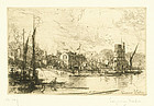 Sir Francis Seymour Haden, etching, Harry Kelly's, Putney,  $395.00