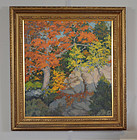 Kenneth Stevens Macintyre, oil, Autumn Shadow, c.1920, $1250.00