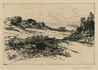 Sir Francis Seymour Haden, etching, Windmill Hill, No. 1, 1877, 475.00