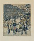 "Luigi Kasimir, etching, ""Vienna Opera House"" 1922, 675.00"