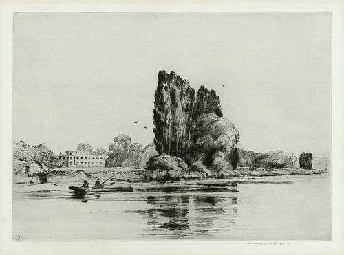 "Sir Frank Short, etching, ""Sion House on the Thames"", 1911, 525.00"