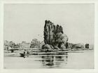 """Sir Frank Short, etching, """"Sion House on the Thames"""", 1911, 525.00"""