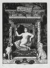 "Felix Bracquemond, etching, ""Album De La Societe Des Aqua Fortistes"""