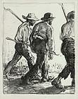 "Edmund Blampied, lithograph, ""Itinerant Farmers"", c. 1920, 975.00"