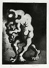 Jacques Lipchitz, etching, Le Chemin de L'Exile