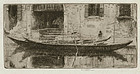 Ernest Roth, etching, A Quiet Canal, Venice, 1906