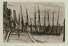 James Abbott McNeill Whistler, etching, Billingsgate, 1859
