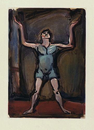 Georges Rouault, etching, Le Jongleur, 1930