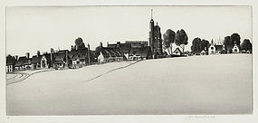"""John Taylor Arms, Etching, """"Cavendish Common"""", 1942"""