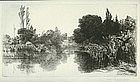 "Sir Francis Seymour Haden, ""Shere Mill Pond No. 2"""