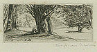 "Sir Francis Seymour Haden, Etching, ""The Holly Field"""
