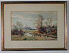 "William C. Fitler, Painting, ""Autumn Landscape"""