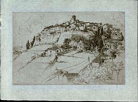 "John Taylor Arms, Etching, ""St. Paul Alpes Maritimes"""