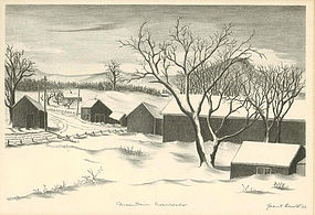 "Grant Arnold, Lithograph, ""Mountain Crossroads"""
