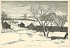 "Grant Arnold, Lithograph, ""Mountain Crossroads"""