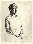 "Robert Sargent Austin, ""Portrait of Alice Lush"""