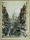 "Luigi Kasimir, ""Fleet Street, London"", 1925"