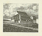 "Albert W. Barker, Lithograph, ""Upper Barn, 2nd Stone"""