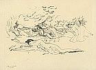 "Arthur Bowen Davies, Lithograph, ""Clouds"""
