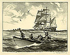 "Gordon Grant, Lithograph, ""The Whale Hunt"""