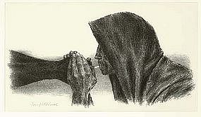 "Joseph Hirsch, Lithograph, ""Survivor"""