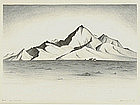 "Clifford Lewis, Lithograph, ""Red Mountain"""