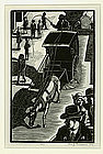 "Leo Meissner, Woodblock, ""Cabby"""