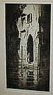 "Levon West, Etching, ""Dark Doorway"""