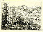 "August-Louis Lepere, Etching, ""Village de la Meule"""