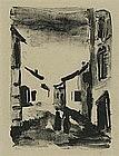 "Maurice de Vlaminck, Lithograph, ""L'Epave II"""