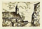 """Maurice de. Vlaminck, """"L'Eglise de Fessanvilliers"""""""