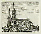 "John Taylor Arms, Etching, ""Chartres the Magnificent"""