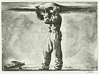 "William John Heaslip, etching, ""Propeller"""