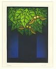 "Kazuhisa Honda, mezzotint, ""Maple Tree"""