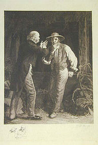 """Thomas Waterman Wood, etching, """"Before the Election"""""""