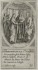 """Jacques Callot, engraving """"Le Mariage de la Vierge"""""""
