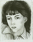 "Honore Guilbeau, lithograph, ""Jennifer"""
