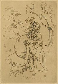 """Pierre Bonnard, etching, """"La Vie de Sainte Monique"""""""