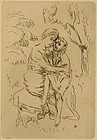 "Pierre Bonnard, etching, ""La Vie de Sainte Monique"""